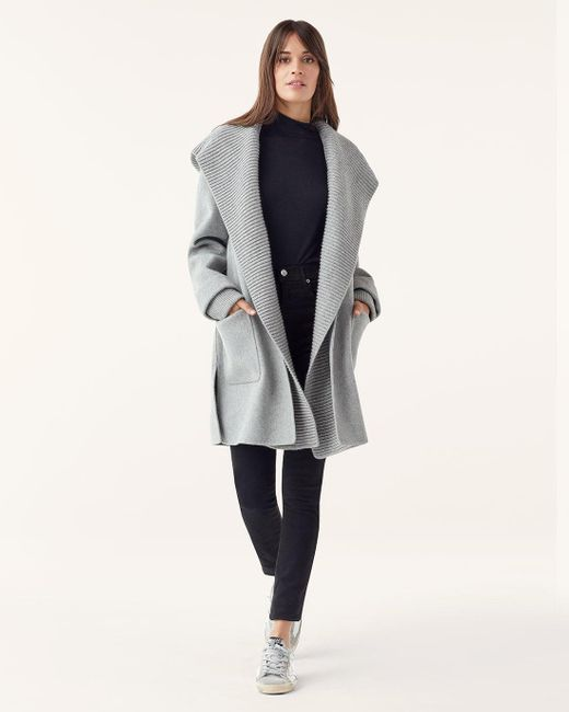 SPLENDID Grey Heather FAUX FUR HOODED COVERALL  NWT