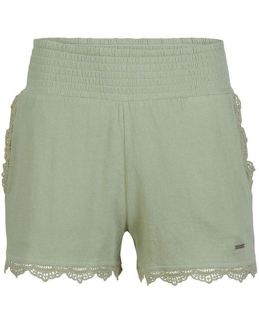 O'neill Sportswear Green Drapey Shorts