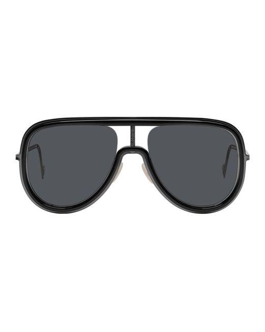 メンズ Fendi ブラック Futuristic サングラス Multicolor
