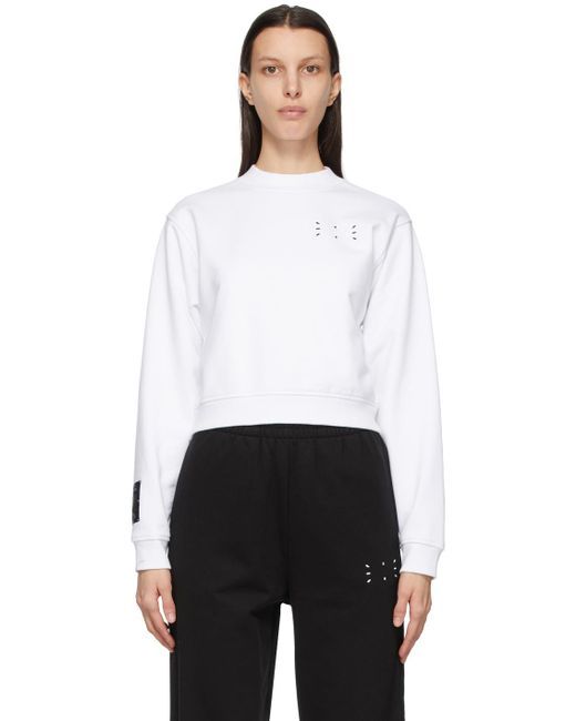 McQ Alexander McQueen No.0 コレクション ホワイト Jack Branded スウェットシャツ White