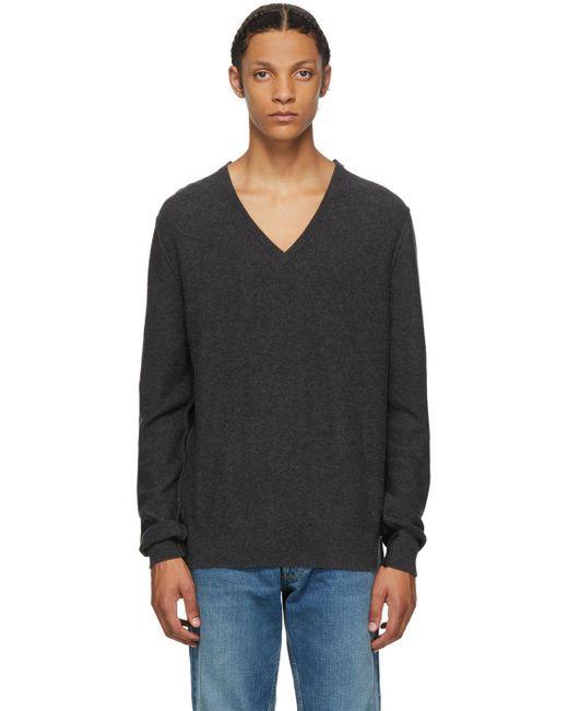 メンズ Maison Margiela グレー & ブラック ウール Gauge 12 セーター Black