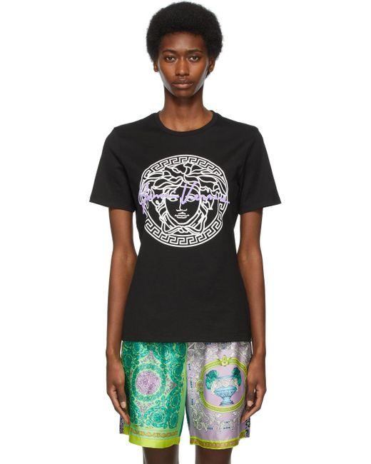 Versace Ssense 限定 ブラック Gv Medusa T シャツ Black