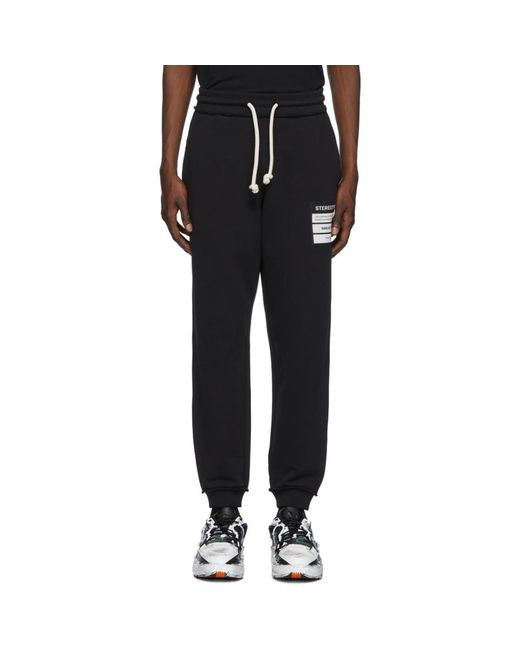 メンズ Maison Margiela ブラック Stereotype ラウンジ パンツ Black