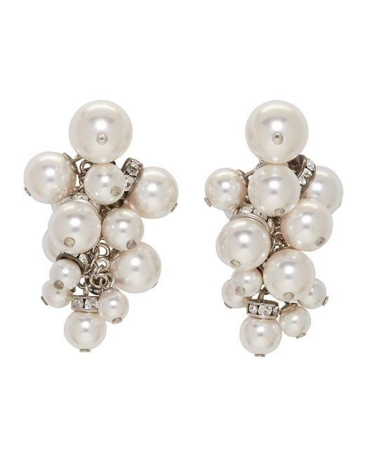 Lanvin - White Pearl Drop Earrings - Lyst