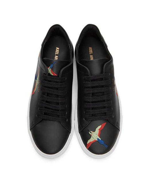 メンズ Axel Arigato ブラック And レッド Bird Clean 90 スニーカー Black