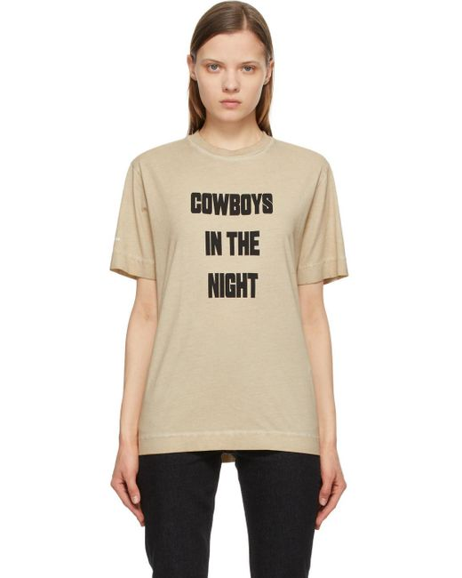 1017 ALYX 9SM ベージュ Cowboys In The Night T シャツ Natural