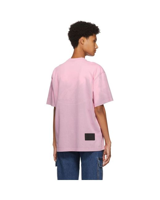 we11done ピンク Thermo Sensitive Polar Bear T シャツ Pink