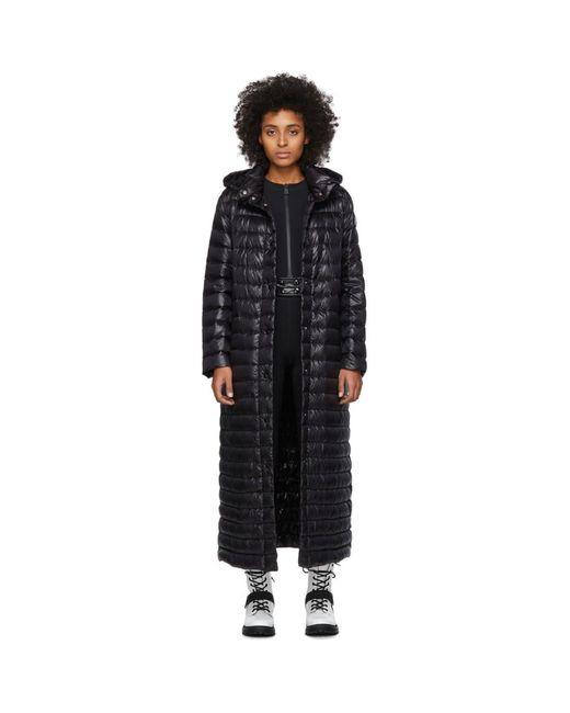 Moncler ブラック ダウン Chocolat コート Black