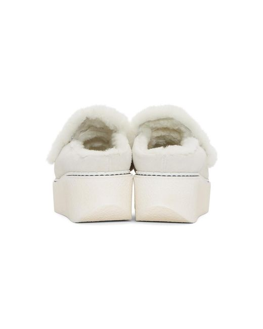 Off-White Suede Loco Slip-On Platform Loafers Flamingos PwDYP49