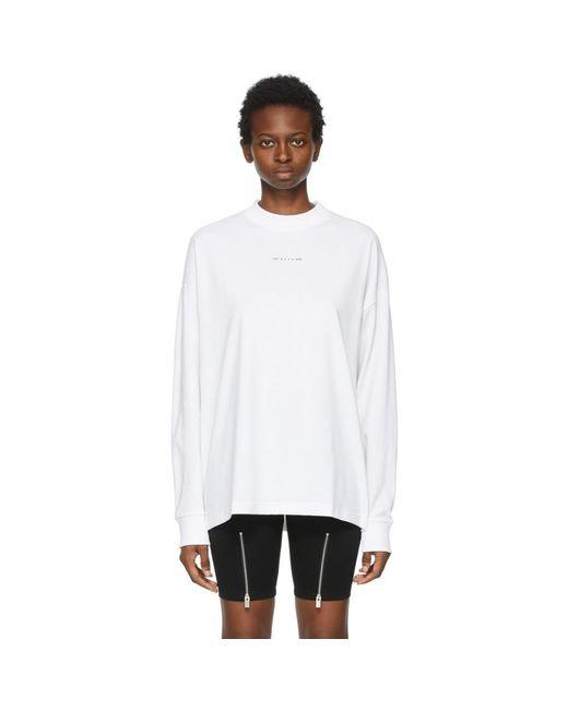 1017 ALYX 9SM ホワイト Visual ロゴ ロング スリーブ T シャツ White