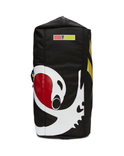 メンズ REEBOK X PYER MOSS Collection 3 コレクション ブラック ロゴ ダッフル バッグ Black