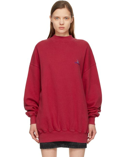 Balenciaga レッド ロゴ スウェットシャツ Red