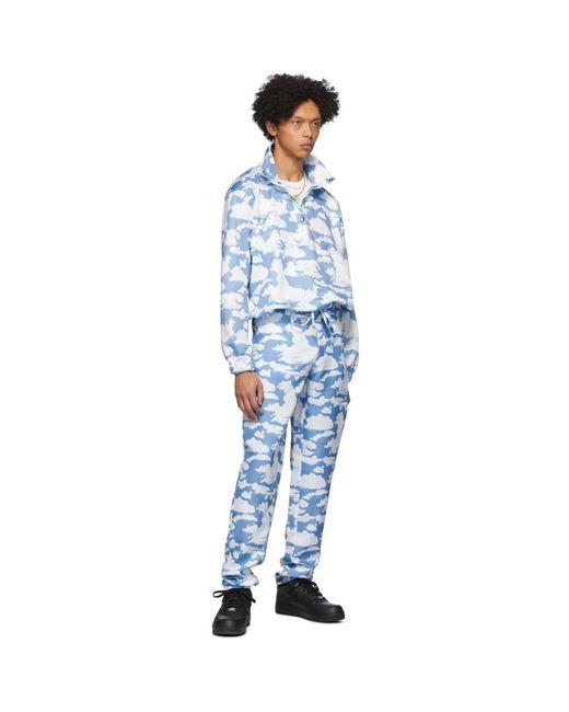 メンズ Phlemuns ブルー And ホワイト クラウド トラウザーズ Blue