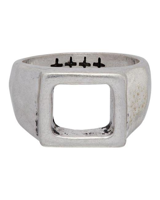 メンズ Ksubi シルバー Dripps Box シグネット リング Metallic