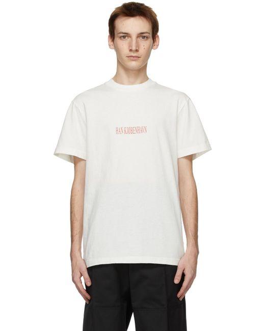 メンズ Han Kjobenhavn ホワイト Artwork T シャツ White