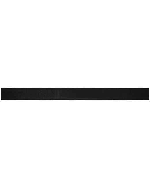 メンズ Saint Laurent ブラック ポンチョ Lux ベルト Black