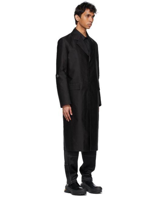 メンズ Jil Sander ブラック テーラード コート Black