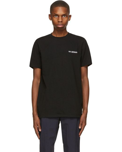 メンズ Han Kjobenhavn ブラック Casual T シャツ Black