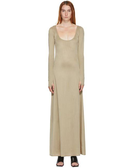 Kwaidan Editions Ssense 限定 トープ ワイド オープン ネック ドレス Natural