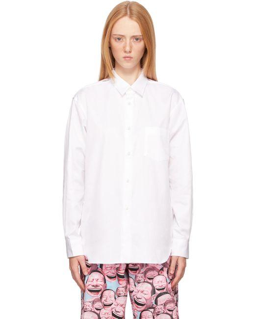 Comme des Garçons ホワイト Zipper シャツ White