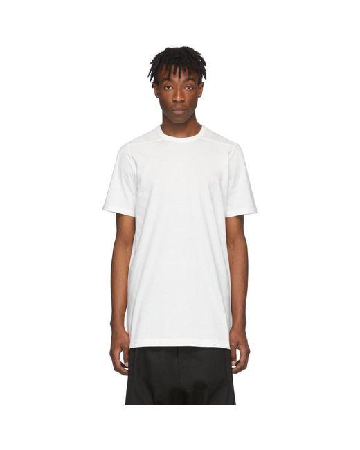 メンズ Rick Owens ホワイト Level T シャツ White