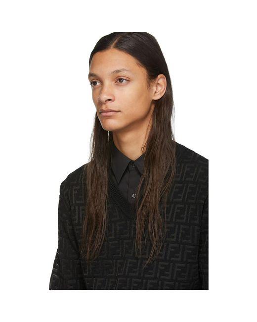 メンズ Fendi ブラック ウール Forever セーター Black