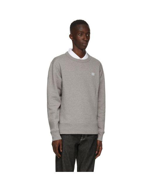 メンズ Acne グレー Fairview パッチ スウェットシャツ Gray
