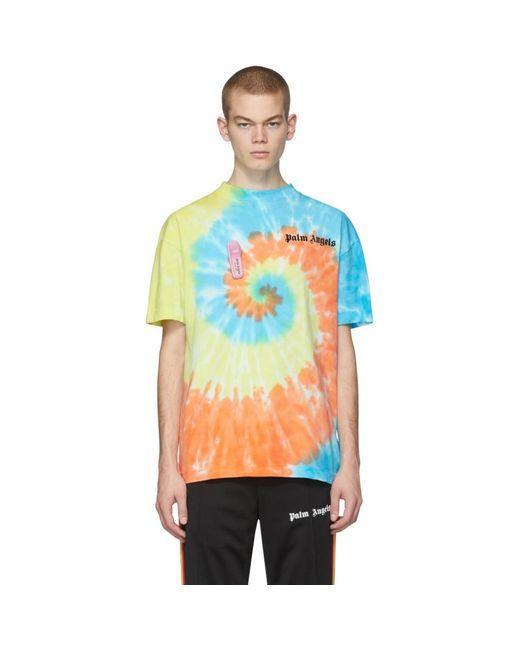 メンズ Palm Angels マルチカラー タイダイ New Basic T シャツ Multicolor