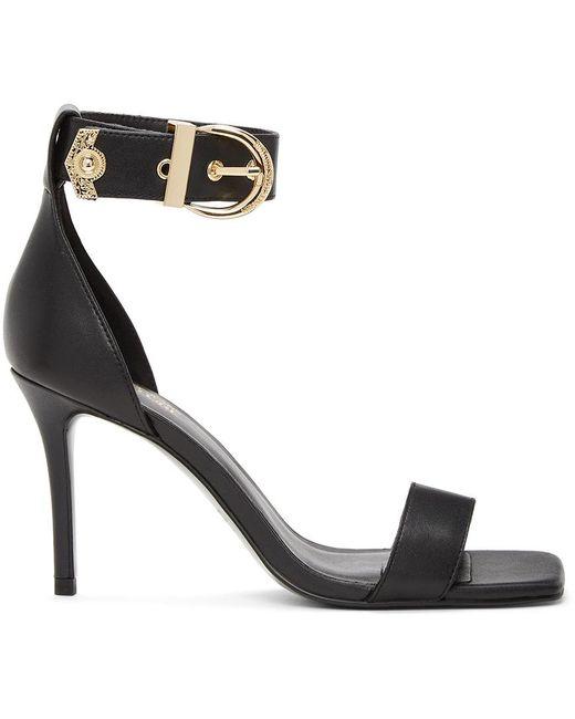 Versace Jeans ブラック Emily ヒール サンダル Black
