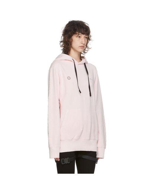 1017 ALYX 9SM ピンク ダブル ロゴ フーディ Pink