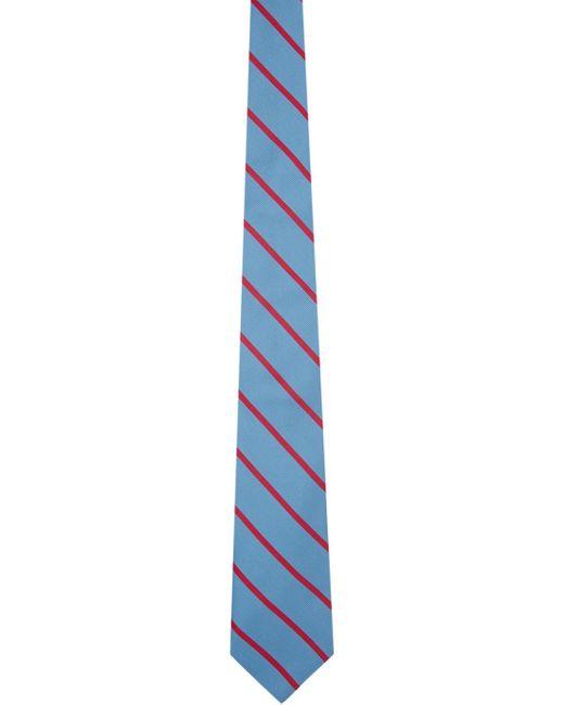 メンズ Etro ブルー & ピンク ストライプ ネクタイ Blue