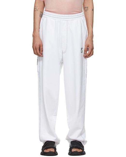 メンズ we11done ホワイト ラウンジ パンツ White