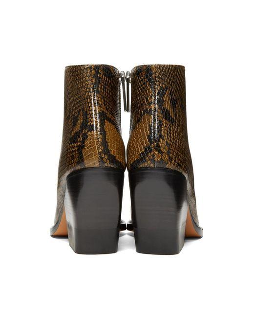Chloé Tan Short Snake Boots HOSU93YS