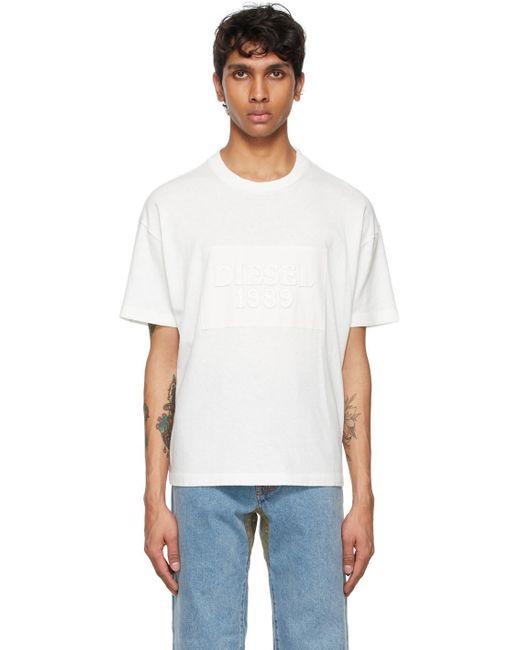 メンズ DIESEL X コレクション ホワイト D4d-20 T シャツ White