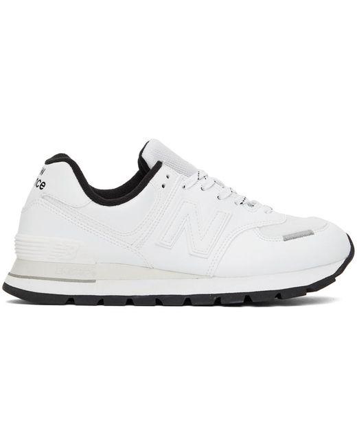 メンズ New Balance ホワイト 574 Rugged スニーカー White