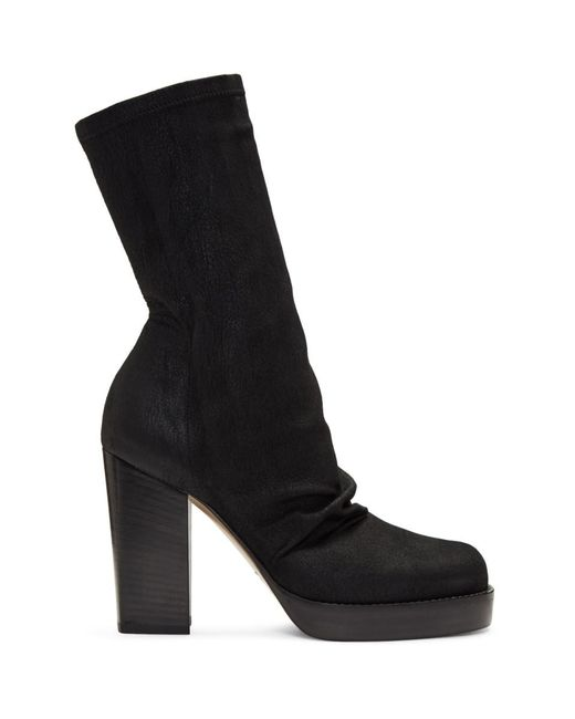 Rick Owens - Black Chunky Sock Boots - Lyst