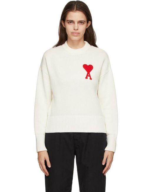 AMI オフホワイト オーバーサイズ Ami De Coeur セーター White