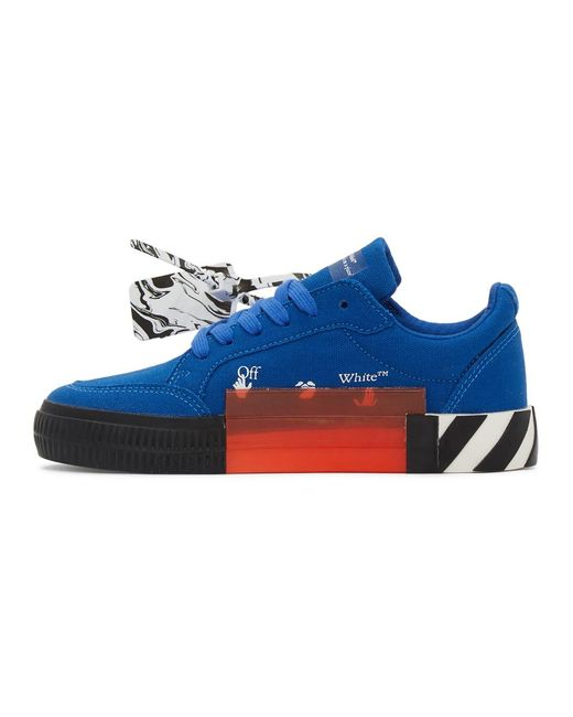Off-White c/o Virgil Abloh Blue And Black Vulcanized Low Sneakers