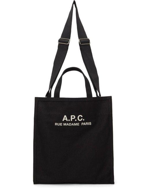 メンズ A.P.C. ブラック Recovery トート Black