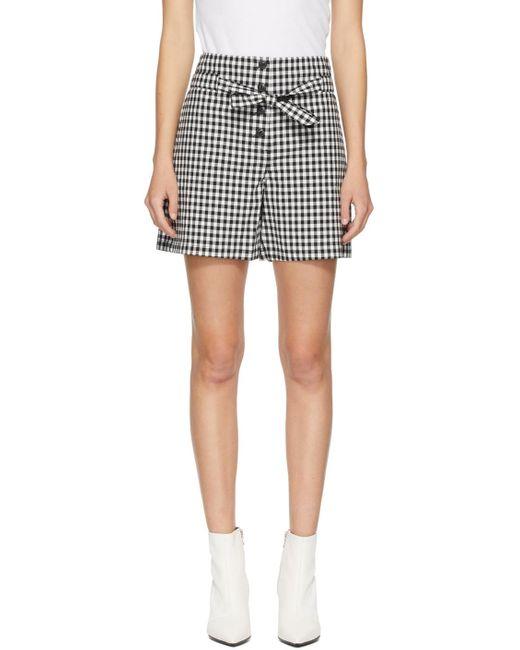 Rag & Bone Black & White Camille Shorts