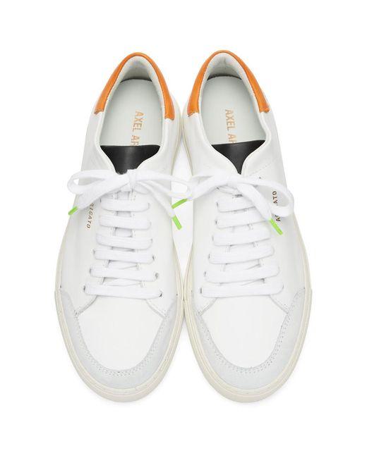 メンズ Axel Arigato ホワイト And オレンジ クリーン 90 トリプル スニーカー Orange