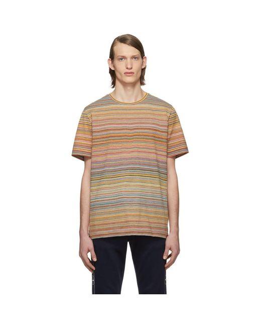 メンズ Missoni マルチカラー ストライプ T シャツ Multicolor