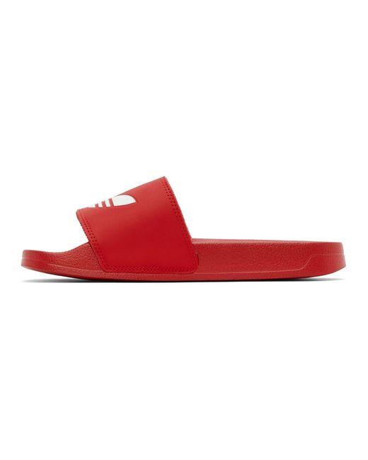 メンズ Adidas Originals レッド Adilette Lite プール スライド Red