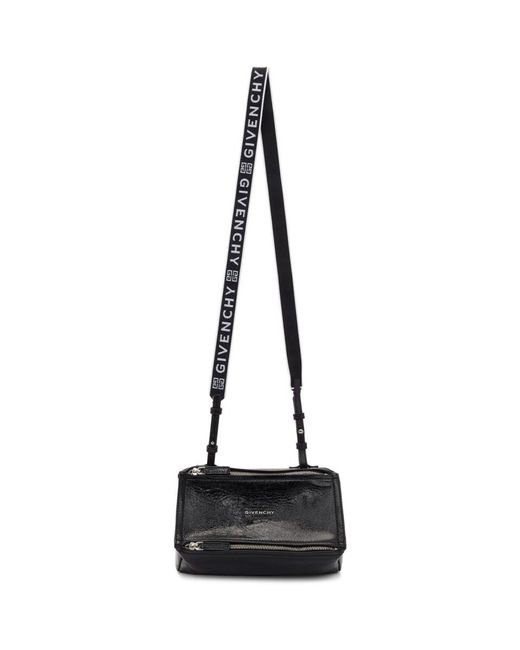 6b08db6a8e Lyst - Givenchy Black Mini Pandora Bag in Black