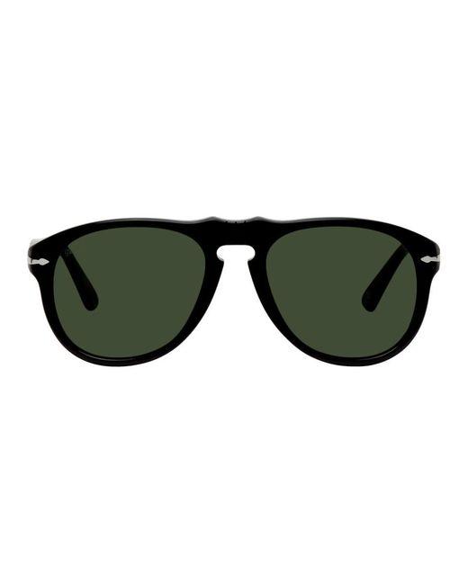 Lunettes de soleil aviateur noires et vertes Persol pour homme en coloris Black