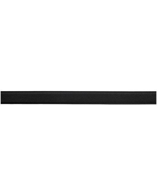 メンズ Saint Laurent ブラック ラッカー モノグラム ベルト Black