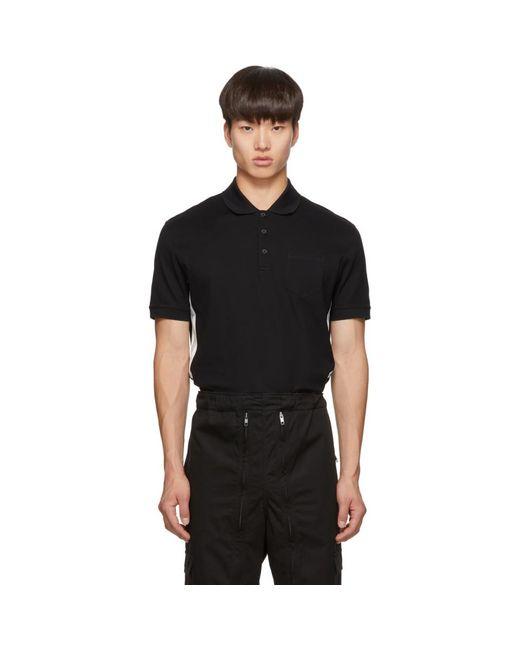 メンズ Givenchy ブラック スリム フィット ロゴ ポロ Black