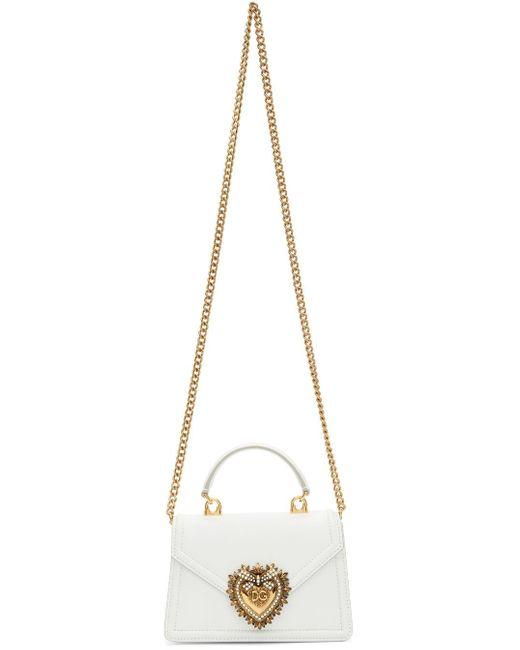 Dolce & Gabbana White Small Devotion Bag