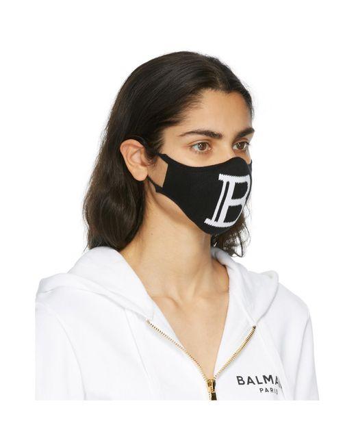 Balmain ブラック ロゴ マスク Multicolor