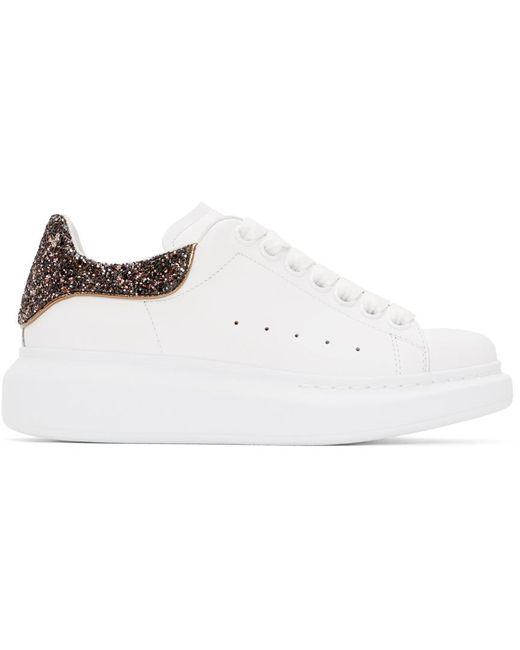 Baskets surdimensionnées blanches et roses Glitter exclusives à SSENSE Alexander McQueen en coloris White